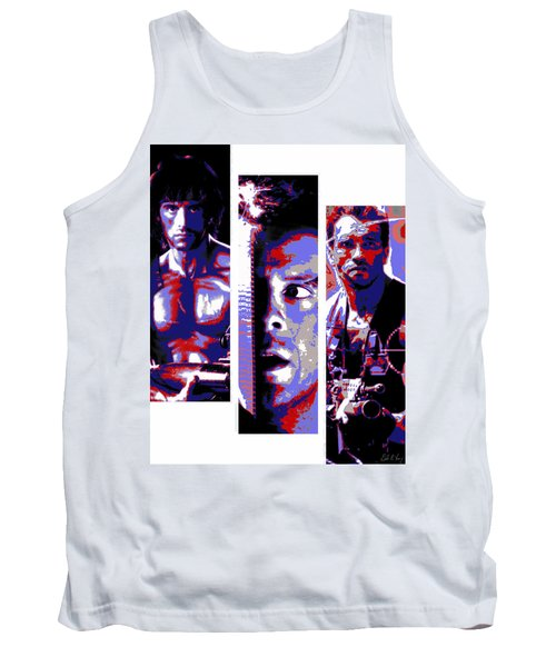All-american 80's Action Movies Tank Top