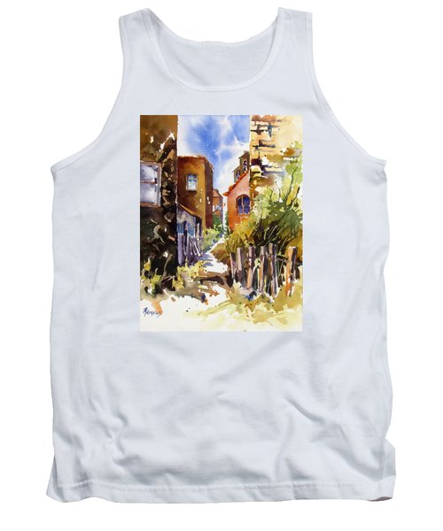 Tank Top featuring the painting Alleyway Charm 2 by Rae Andrews