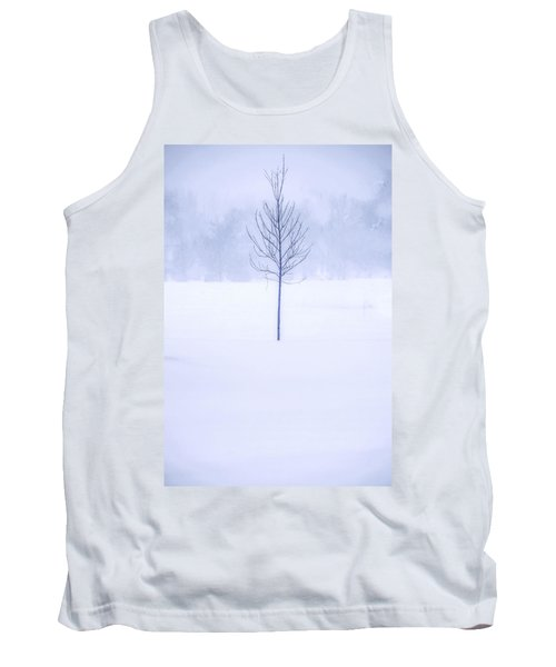 Alone In The Snow Tank Top