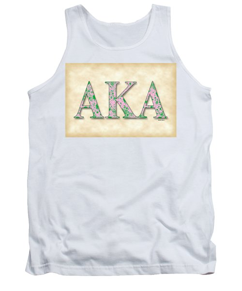 Alpha Kappa Alpha - Parchment Tank Top by Stephen Younts