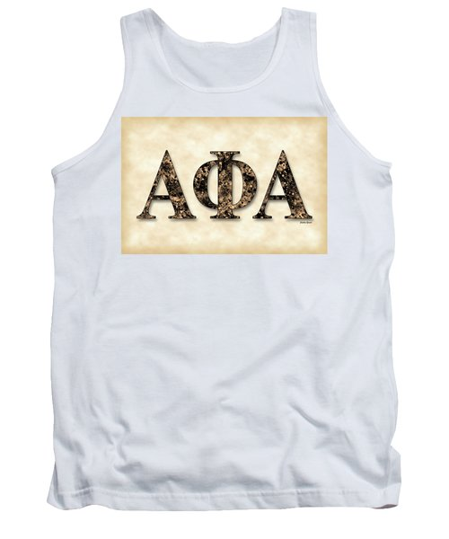 Alpha Phi Alpha - Parchment Tank Top by Stephen Younts