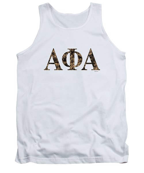 Tank Top featuring the digital art Alpha Phi Alpha - White by Stephen Younts