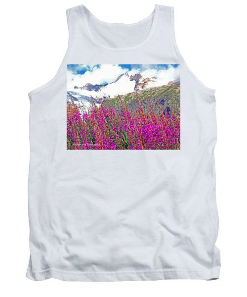 Alps Wildflowers And Snows Tank Top