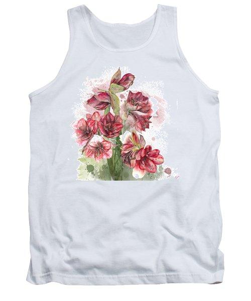 Amaryllis Flowers - 4. - Elena Yakubovich Tank Top