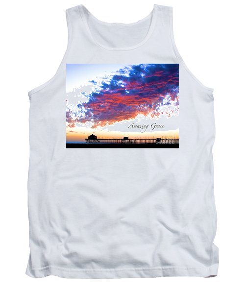 Amazing Grace Fire Sky Tank Top by Margie Amberge