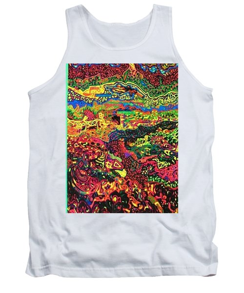 Tank Top featuring the drawing American Abstract by Jonathon Hansen