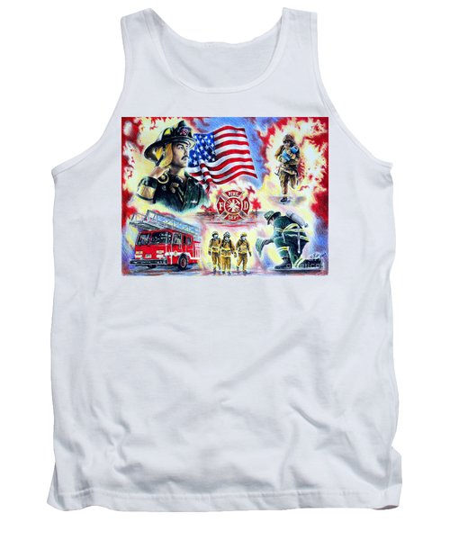 American Firefighters Tank Top