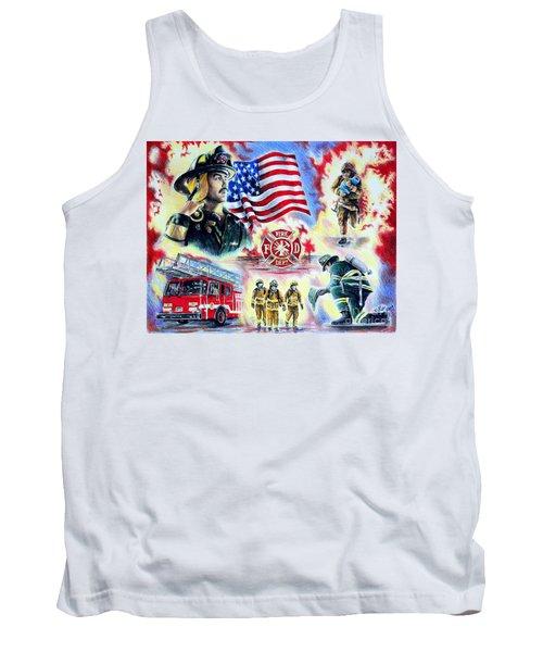 American Firefighters Tank Top