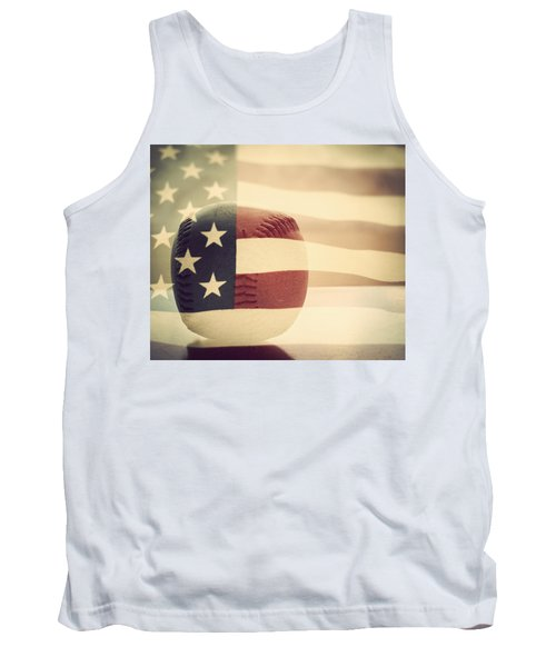 Americana Baseball  Tank Top by Terry DeLuco