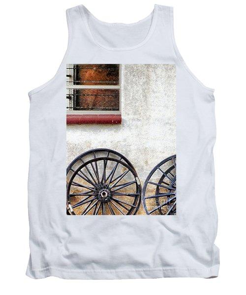 Amish Buggy Wheels Tank Top