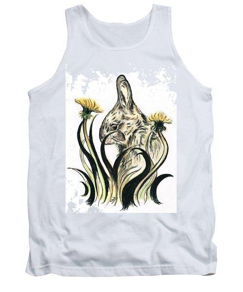 Rabbit- Amongst The Dandelions Tank Top by Teresa White