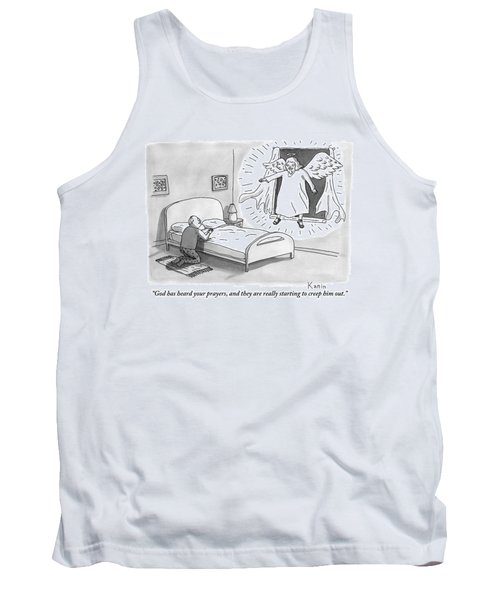 An Angel Is Hovering In The Window Of A Man Tank Top
