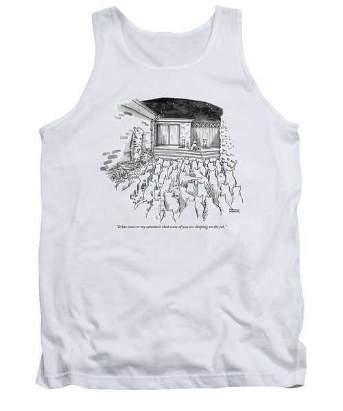 An Assembly Of Cats In A Backyard Led By Three Tank Top