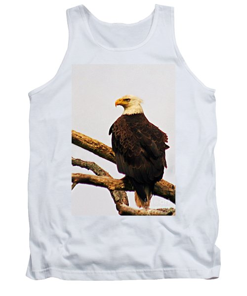 Tank Top featuring the photograph An Eagle's Perch by Polly Peacock