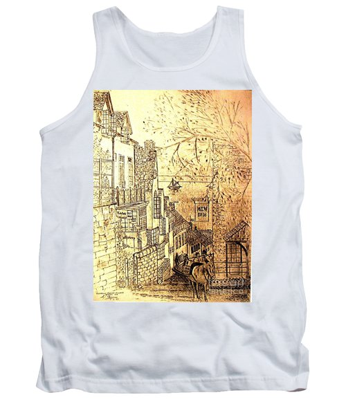 An English Fishing Village Tank Top by Hazel Holland