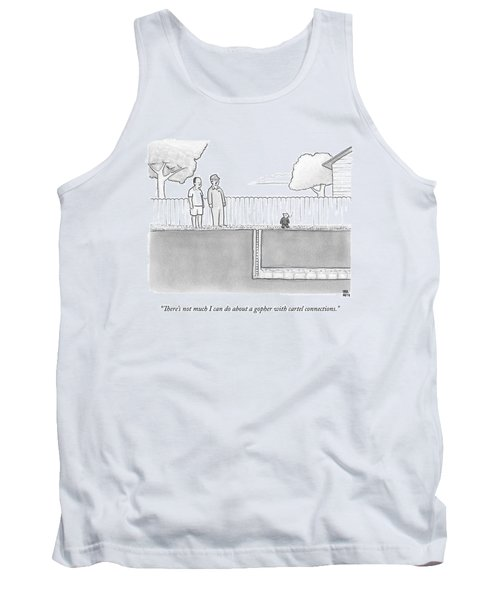 An Exterminator And Home-owner Look Tank Top