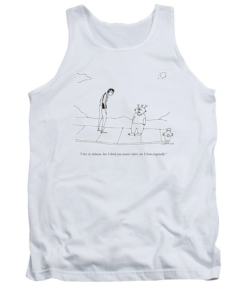 An Extraterrestrial Speaks To A Woman Tank Top