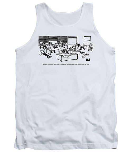 An Office Worker Speaks On The Phone Tank Top