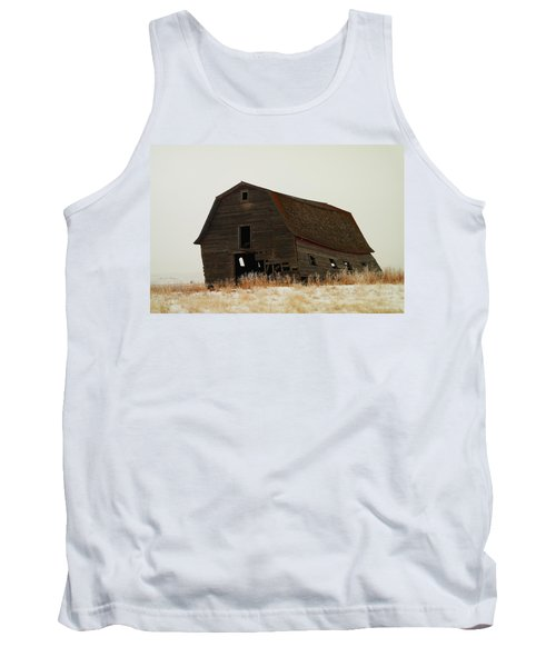 An Old Leaning Barn In North Dakota Tank Top by Jeff Swan