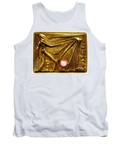 Tank Top featuring the relief Sun God Worship  by Hartmut Jager