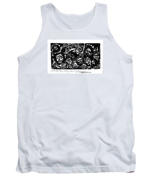 And The Spirit Fell Tank Top by Seth Weaver