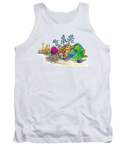 Anemone Garden Tank Top by Adria Trail