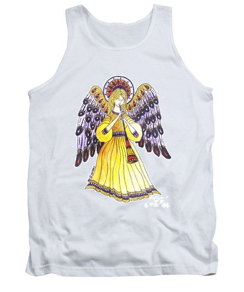 Angel In Horns Section Tank Top