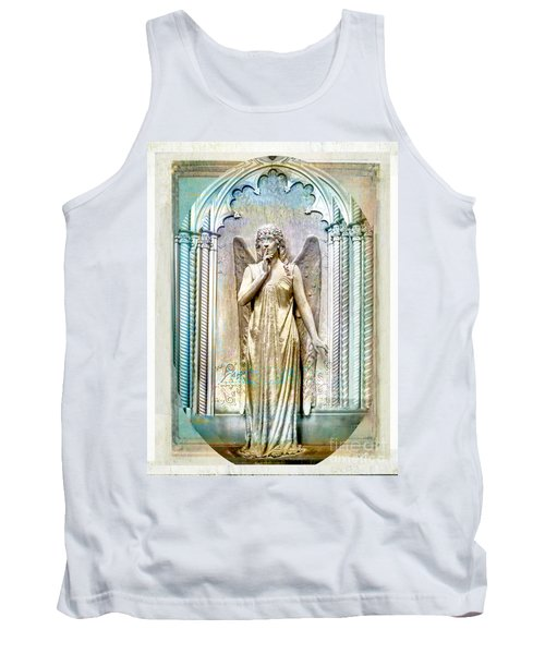Angel Of Silence.genoa Tank Top by Jennie Breeze