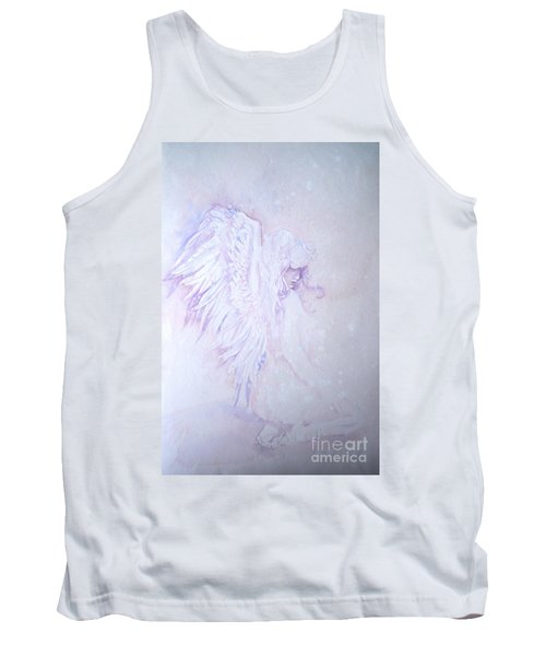 Tank Top featuring the painting Angel by Sandra Phryce-Jones
