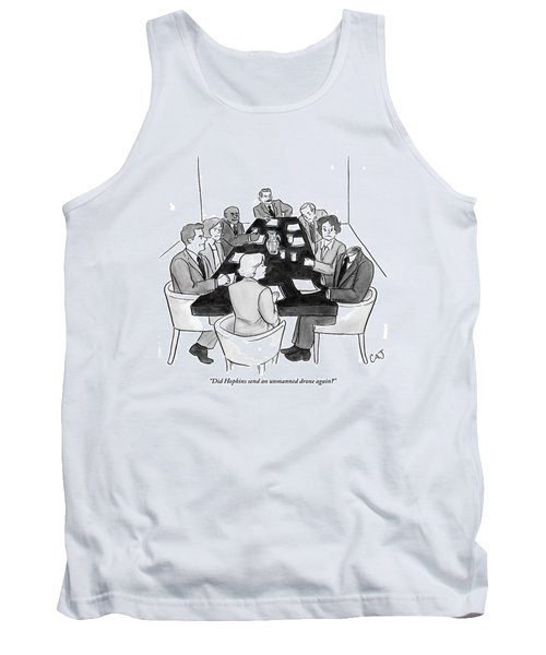 Angry Office Workers Sit Around A Conference Tank Top