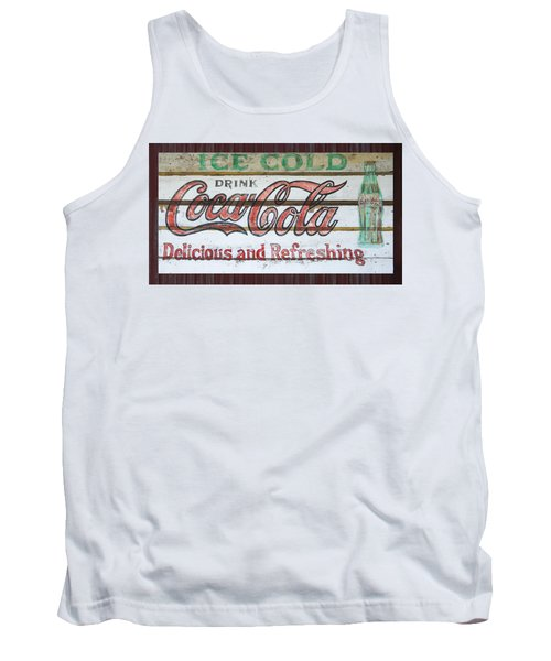 Antique Coca Cola Sign  Tank Top