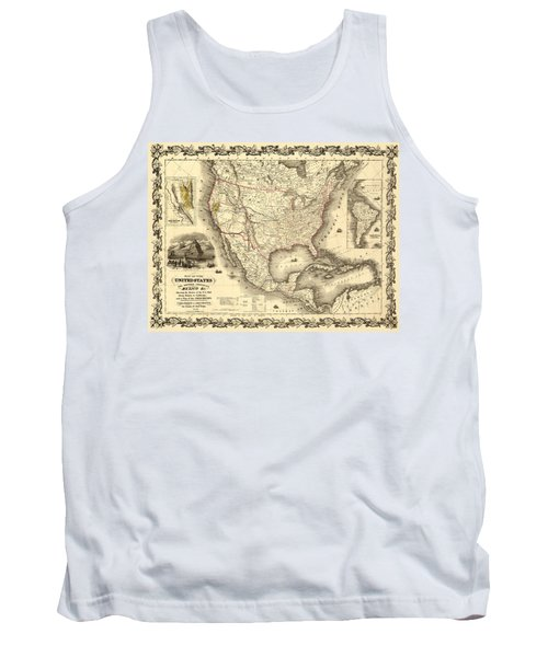 Antique North America Map Tank Top