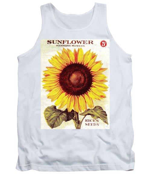Antique Sunflower Seeds Pack Tank Top
