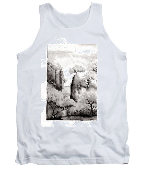 Tank Top featuring the painting Arbres Separes by Marc Philippe Joly