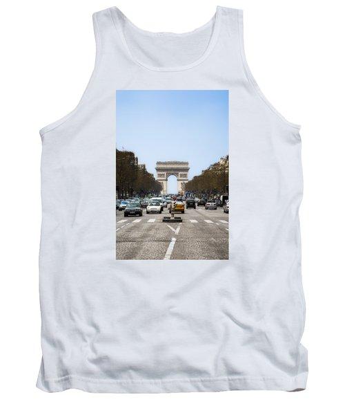 Arch Of Triumph In Paris Tank Top