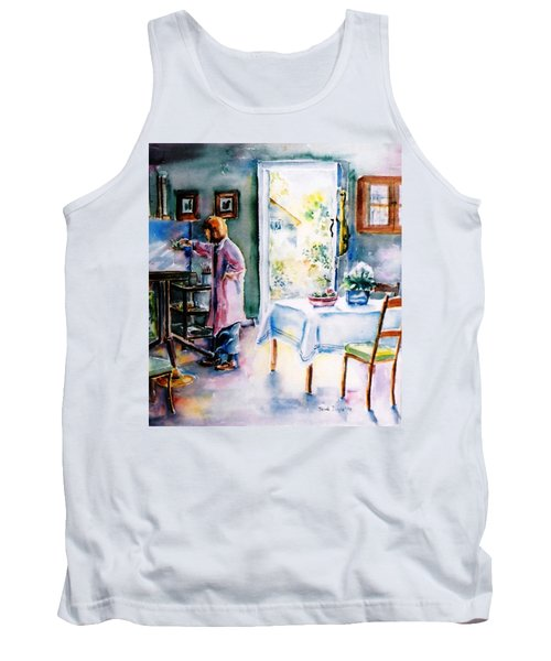 Artist At Work In Summer  Tank Top by Trudi Doyle