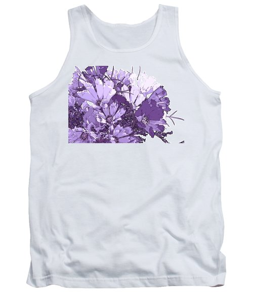 Artsy Purple Cosmos Tank Top