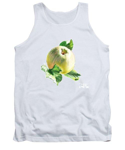Tank Top featuring the painting Artz Vitamins Series A Happy Green Apple by Irina Sztukowski