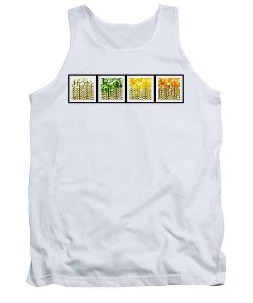 Aspen Colorado Abstract Horizontal 4 In 1 Collection Tank Top