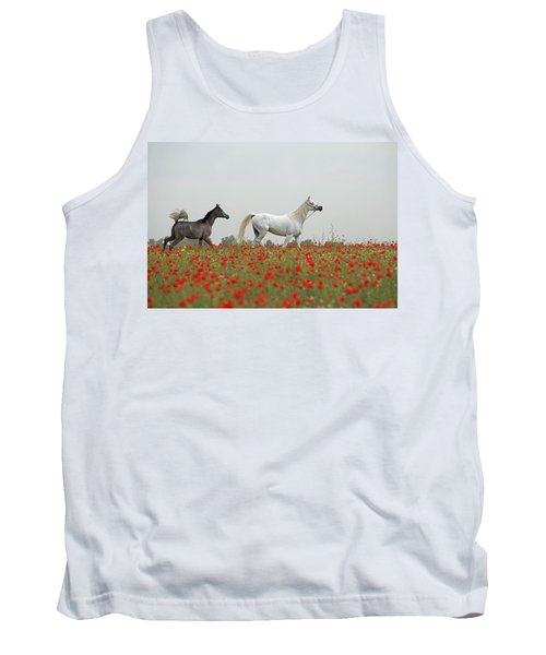 Tank Top featuring the photograph At The Poppies' Field... 2 by Dubi Roman