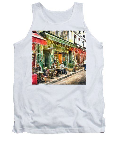 At The Restaurant In Paris Tank Top