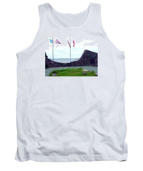 Atlantic Charter Historic Site Tank Top by Barbara Griffin