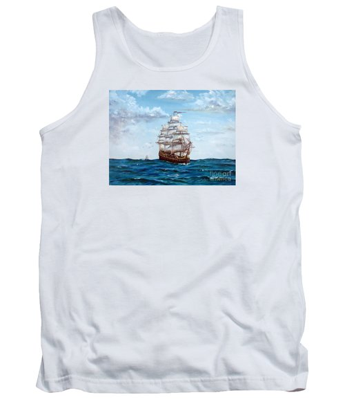 Tank Top featuring the painting Atlantic Crossing  by Lee Piper