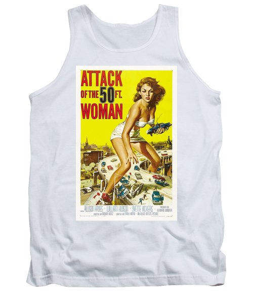 Attack Of The 50 Ft Woman Poster Tank Top