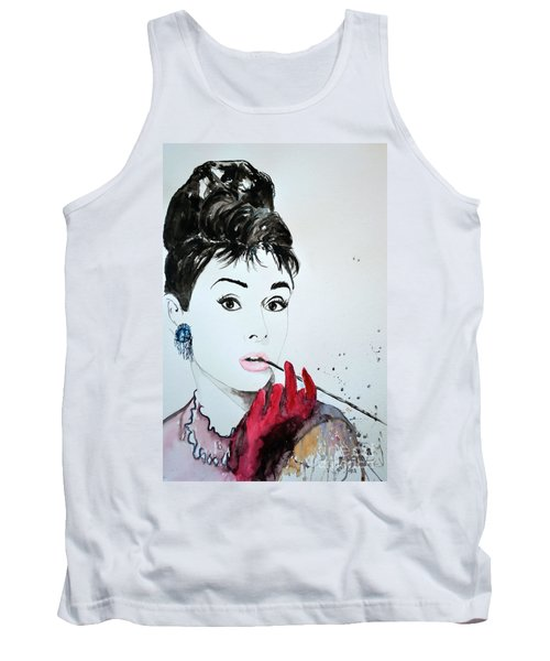 Audrey Hepburn - Original Tank Top by Ismeta Gruenwald