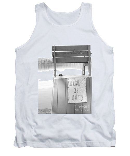Autumn At White Lake Bw Tank Top
