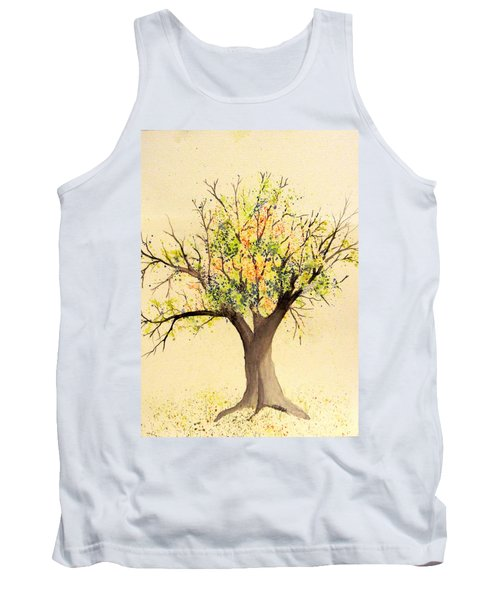 Autumn Backyard Tree Tank Top
