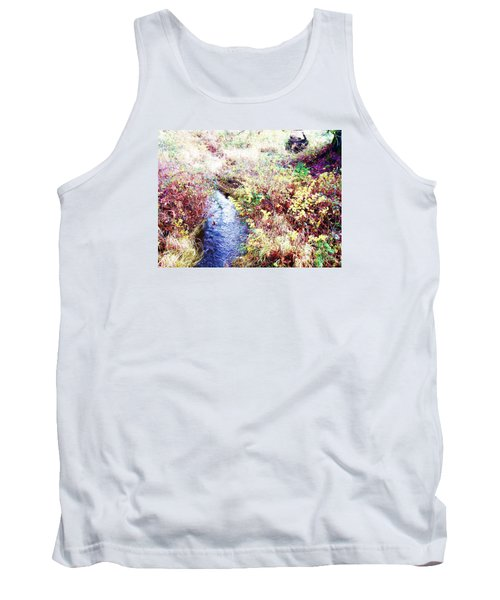Tank Top featuring the photograph Autumn Creek by Vanessa Palomino