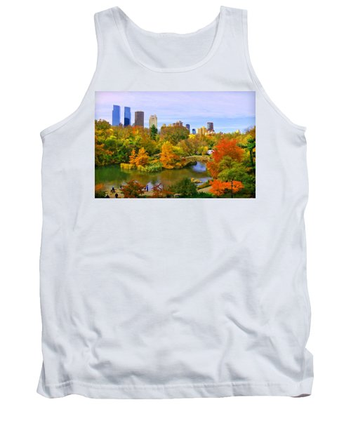 Autumn In Central Park 4 Tank Top