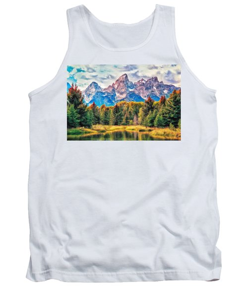 Autumn In The Tetons Tank Top